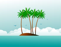 Tropical island Royalty Free Stock Images