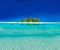 Tropical Island. Reflection on the Sea Royalty Free Stock Photography