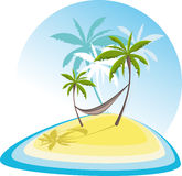 Tropical island. Simple illustration with tropical island Royalty Free Stock Photo