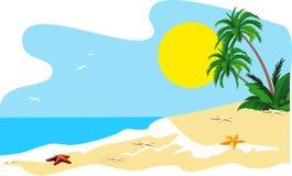 Tropical island. Landscape of a coast of tropical island Stock Photo
