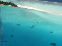 Tropical island. A tropical island aerial view Stock Photography