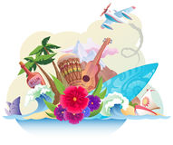 Tropical island. The tropical island with its music, surfing and the carefree lifestyle Royalty Free Stock Photography