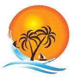 Tropical island. Paradise logo design vector eps10 Royalty Free Stock Photos