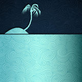 Tropical Island. Summer banner made of fancy paper Royalty Free Stock Image