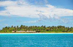 Tropical island. Beautiful tropical island on the maldives in the indian ocean Royalty Free Stock Image