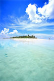 Tropical island. View of tropical island from the sea Stock Photos