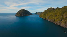 Tropical island, aerial view. El Nido stock video