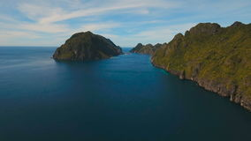 Tropical island, aerial view. El Nido stock video footage