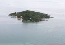 Tropical island from the air. One of the Seychelles islands, seen from the air. There is a lot of detail in the file stock photos
