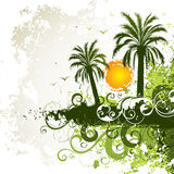 Tropical island background Stock Photos