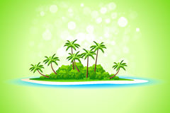 Tropical Island Background Royalty Free Stock Images