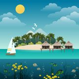 Tropical island background Stock Photo