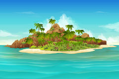 Tropical island background Royalty Free Stock Image