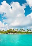 Tropical island beach. Landscape of tropical island beach Royalty Free Stock Image