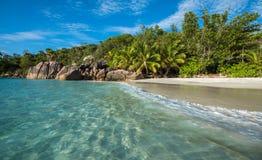 Tropical island beach Anse Lazio, Praslin, Seychelles Stock Image