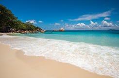 Tropical island beach Anse Lazio, Praslin, Seychelles Royalty Free Stock Image