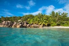 Tropical island beach Anse Lazio, Praslin, Seychelles Stock Photography