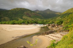 Tropical Island Beach - Ilhabela, Brazil Royalty Free Stock Photos