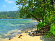Tropical Island Beach Koh Rong, Cambodia Royalty Free Stock Images