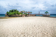 Tropical island beach landscape Royalty Free Stock Photo