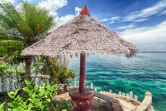 Tropical island beach landscape Stock Images