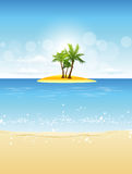 Tropical Island Beach Stock Images
