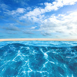 Tropical island beach Royalty Free Stock Images