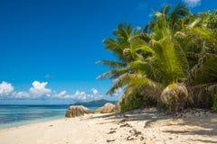 Tropical island beach, Source d'argent, La Digue, Seychelles Royalty Free Stock Photos