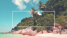 Tropical Island Beach Summer Travel Destination Concept Royalty Free Stock Photo