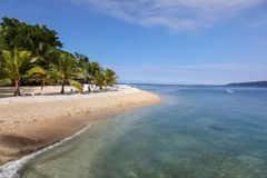 Tropical Island beach view in Vanuatu - South Pacific Royalty Free Stock Photography