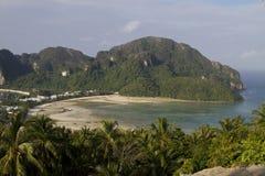 Tropical island, Bird eye view Royalty Free Stock Photography