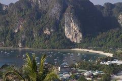 Tropical island, Bird eye view Stock Images