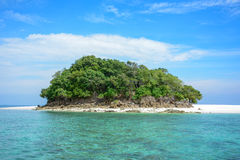 Tropical island. With blue sea Stock Photo