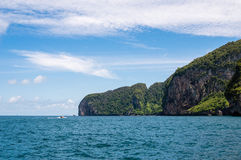 Tropical island with blue sky Royalty Free Stock Photo