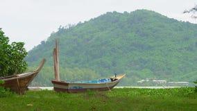 Tropical island, boat on the beach. Tropical island, boat on the beach stock video