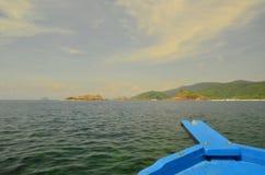 Tropical Island Boat Royalty Free Stock Photo