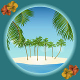 Tropical island border Royalty Free Stock Images