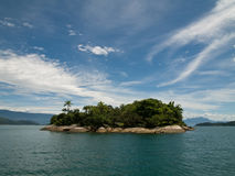 Tropical Island, Brazil. Brazilian tropical island off coast of Paraty Stock Image
