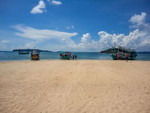 Tropical island in Cambodia Royalty Free Stock Images