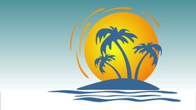 Tropical island stock footage