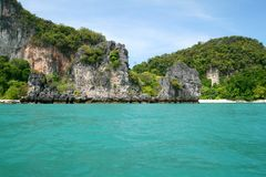 Tropical island coast Royalty Free Stock Image