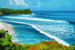 Tropical Island Coast And Sea On Horizon Scenery. Summer Travel royalty free stock photo
