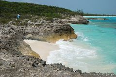 Tropical Island Coastline Royalty Free Stock Photography