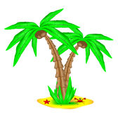 Tropical island with coconut palm Stock Photo