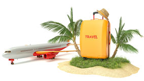 Tropical island. Creative collage. Traveling Stock Images