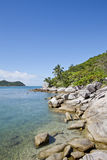 Tropical Island with crystal clear water Stock Photo