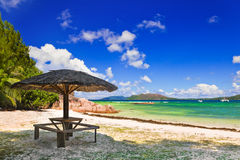 Tropical Island Curieuse At Seychelles Royalty Free Stock Photography