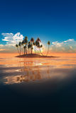 Tropical Island. 3D render. Digital nature Stock Photography
