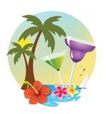 Tropical island drink. Tropical island holidays sea and drink Stock Photos