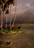Tropical Island Evening Stock Image